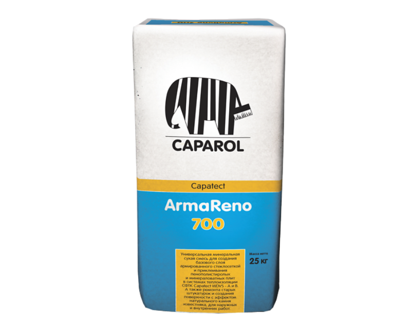 Смесь цементная CAPATECT ARMARENO 700 клеяще-шпатлевочная белая, 25кг