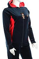 Велюровый женский спортивный костюм K118 Темно-синий, 2XL