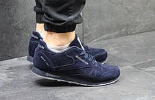 Мужские кроссовки Reebok Classic Leather since 1983,темно синие 46р, фото 3