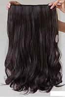 Волосы тресс на заколках термо затылочная прядь 45см тон №4