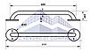 Поручень для инвалидов  прямой, Ø 32мм - 600м, фото 2