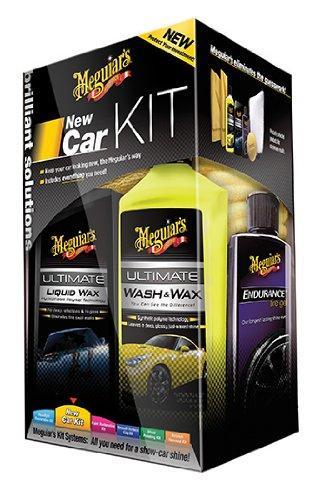 Подарочный набор для ухода за новым автомобилем - Meguiar's New Car Kit черный (G3200)