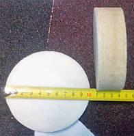 Фетровый круг полировальный d100мм толщиной 30 мм на липучку