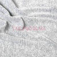 Трикотажное полотно велюр хлопок/полиэстер ринг меланжевый, серый