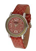 Часы женские NewDay на красном ремне
