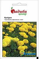 "Семена  цветов Бархатцы (Чорнобрывци) Купидон желтые, 0,2 г, ""Садыба центр"",  Украина"