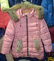 Зимова куртка для дівчат  8-12 років  ShangXu рожева