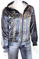 Велюровый женский спортивный костюм 7536 Серый