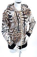 Велюровый женский спортивный костюм 7094 48, Коричневый