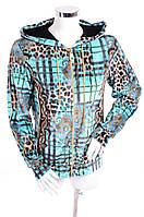 Велюровый женский спортивный костюм 7220 Голубой, 44