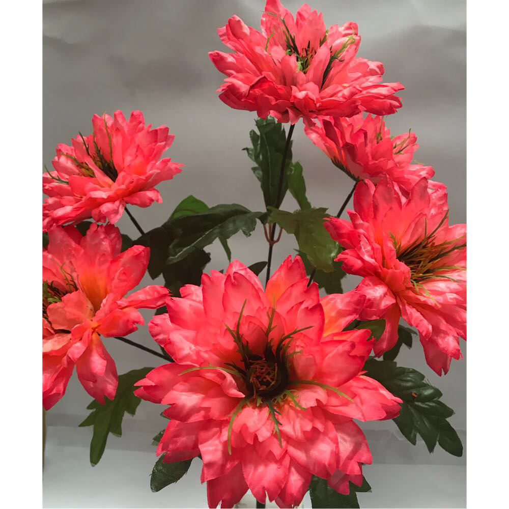 Искусственные цветы.Искусственный букет хризантема пушистая.