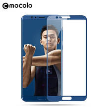 Защитное стекло Mocolo Full сover для Huawei Honor V10 синий