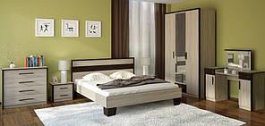 Ліжко 140 Скарлет (дуб Сонома \ темний венге)