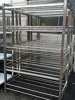Сушка стеллаж для тарелок из нержавеющей стали на 600 тарелок