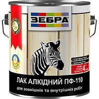 Лак ЗЕБРА алкидный ПФ-110 0,8 кг