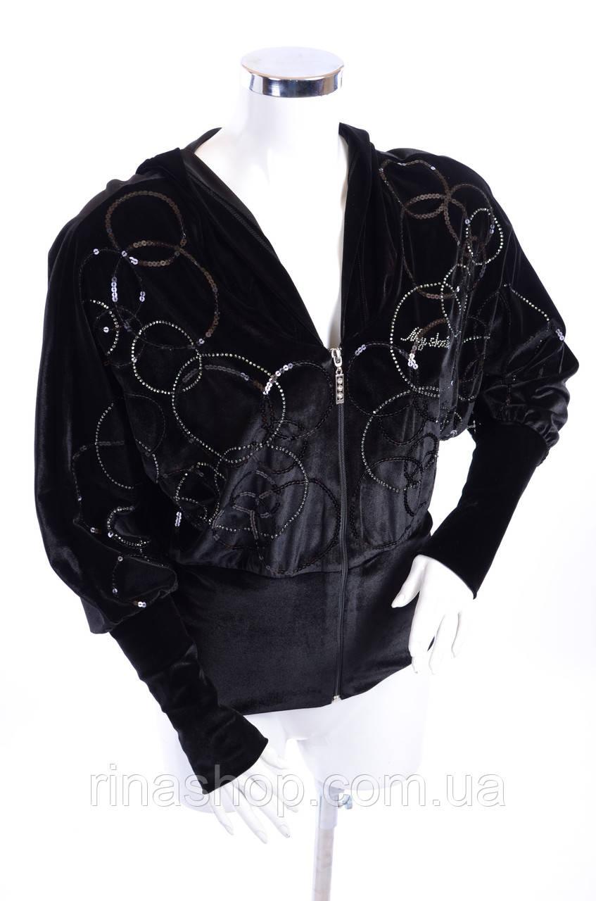 Велюровый женский спортивный костюм 3011