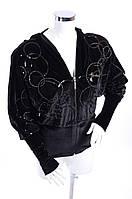 Велюровый женский спортивный костюм 3011 Черный, XL