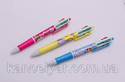 Ручка шариковая детская, автомат, 4-цветная, в ассортименте