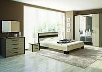Ліжко 160 Скарлет (дуб Сонома \ темний венге)