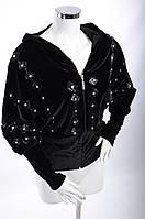 Велюровый женский спортивный костюм 3006 Черный, XL