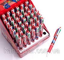 Ручка шариковая детская, 4-цветная, в ассортименте