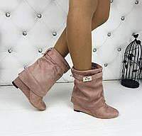 Женские сапоги короткие люкс копия Givenchy серый, фото 1