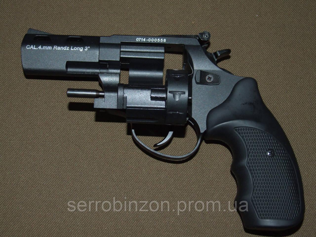 """Револьвер Флобера STREAMER 3"""" чорний 3"""