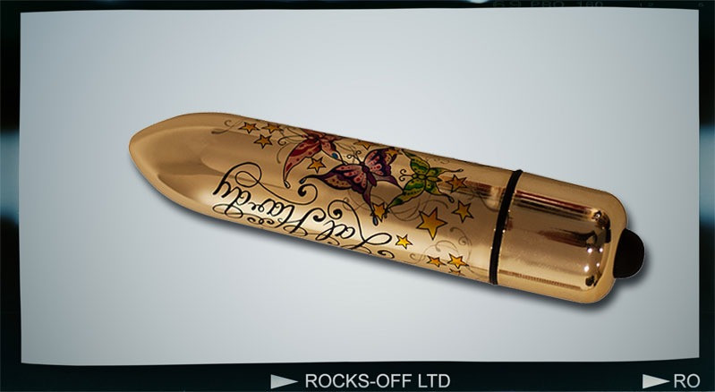 Вибропуля Rocks Off RO-120mm TATTOO BulletWings of Desire, стильная вибропуля с татту рисунком