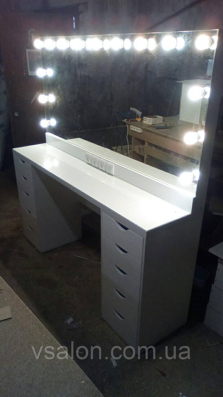 Столик для макияжа с подсветкой для двух мастеров V196