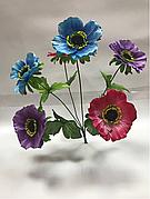 Штучні квіти.Штучний букет мак різнобарвний.