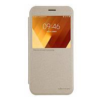 Чехол NILLKIN для Samsung A7(2017)/A720 - Spark series Gold (6328429)