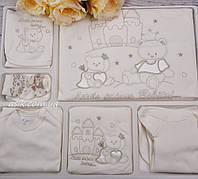 """Трикотажный набор для новорождённого """"Мишки"""" 10 предметов"""