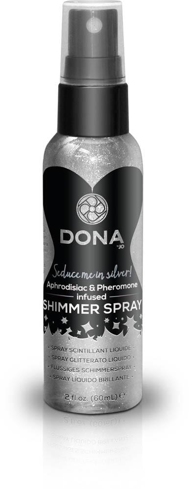 (SALE) Спрей для тела с серебристыми блестками DONA Shimmer Spray Silver (60 мл)