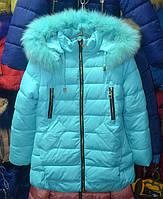 Зимова куртка для дівчат  6-10 років  ShangXu блакитна