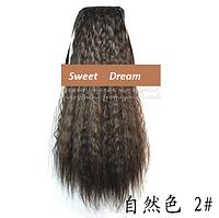 Шиньон, конский хвост, кудрявый, афро-кудряшки, длина - 60 см, цвет №2