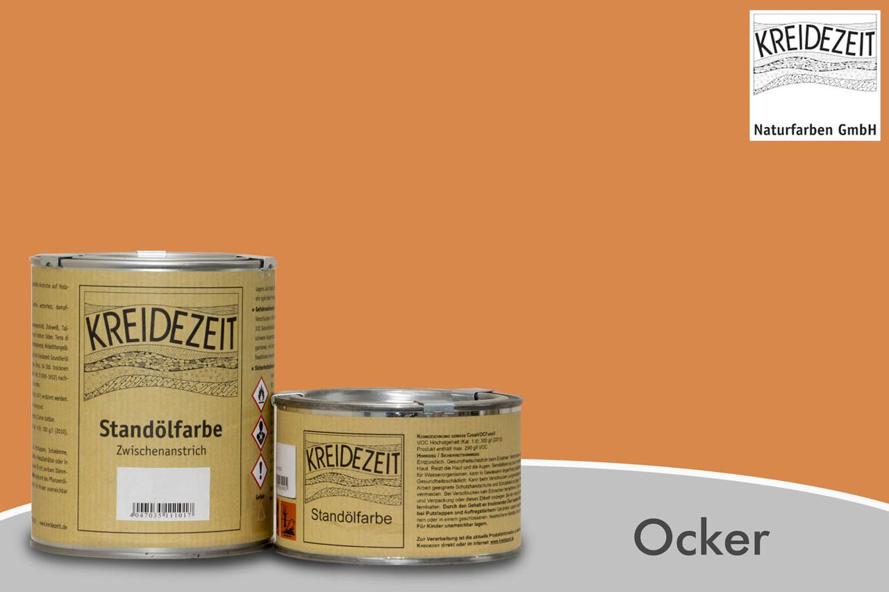Стандолевая масляная краска жирная, верхний слой / Standölfarbe Schlussanstrich ocker, охра 0,75 l
