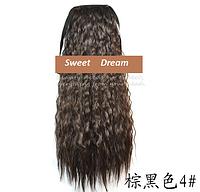 Шиньон, конский хвост, кудрявый, афро-кудряшки, длина - 60 см, цвет №4