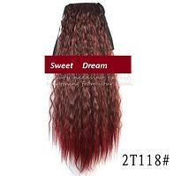 Шиньон, конский хвост, кудрявый, афро-кудряшки, длина - 60 см, цвет №2Т118