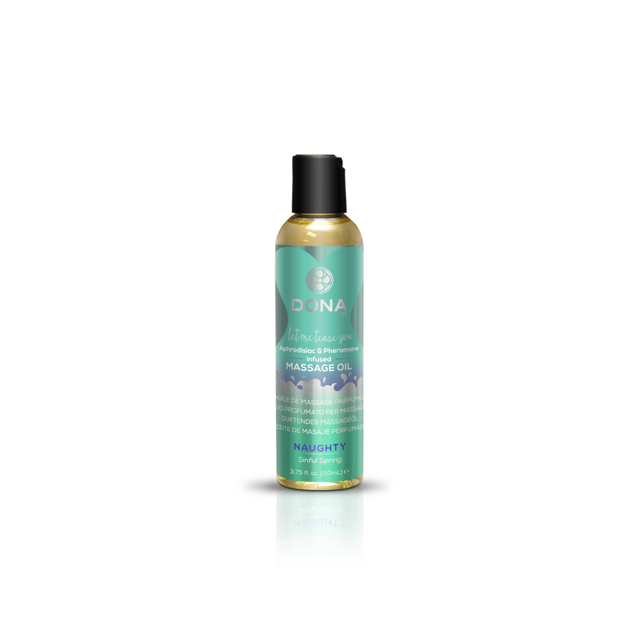 Массажное масло DONA Massage Oil NAUGHTY - SINFUL SPRING (110 мл) с феромонами и афродизиаками