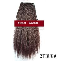 Шиньон, конский хвост, кудрявый, афро-кудряшки, длина - 60 см, цвет №2ТBUG