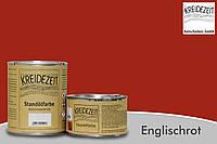 Стандолевая масляная краска жирная верхний слой Standölfarbe Schlussanstrich Englischrot красный 0,75 l