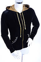 Велюровый женский спортивный костюм K700 Черный, 44
