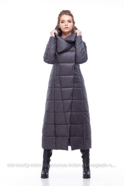 Зимнее пальто Комильфо 164 графит 50