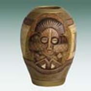 Китайская ваза 13,9cm*13,9cm*h19cm