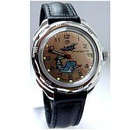 Мужские командирские механические наручные часы Восток с ручным заводом 02 ВМС