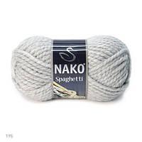 Пряжа Nako Spaghetti Серый