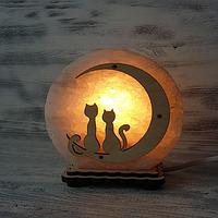 """Соляной светильник """" Коты на луне"""""""
