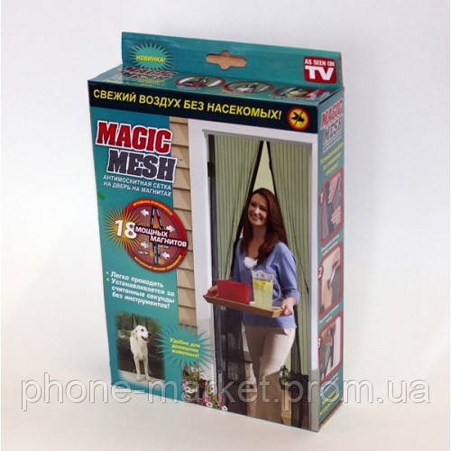Самозакрывающаяся антимоскитная сетка на магнитах Magic Mesh