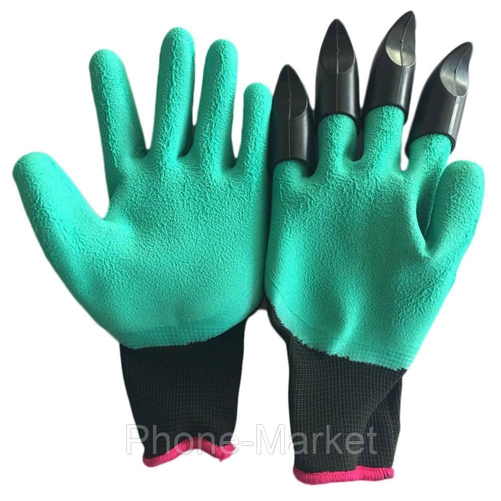 Садовые перчатки Garden Genie Gloves с 4 наконечниками для рытья земли