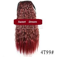 Шиньон, конский хвост, кудрявый, афро-кудряшки, длина - 60 см, цвет №4Т99
